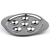 Stainless Steel, Escargot Dish, 6 Compartments, 5/PK