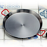 "Steel Paella Pan, Polished Finish, 27.5"""