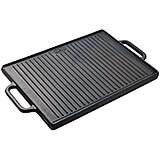 Black, Cast iron Reversible Griddle / Grill