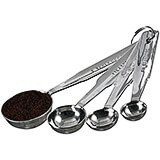 Stainless Steel, Measuring Spoons, Set Of 4