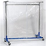 "Clear Vinyl Cover W/ Zipper For 5ft Garment Rack, 60"" High"