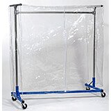 "Clear Vinyl Cover W/ Zipper For 5ft Garment Rack, 72"" High"