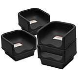 Black, Single Height Booster Seat, No Strap, 4/PK