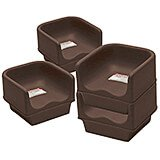 Dark Brown, Single Height Booster Seat, No Strap, 4/PK