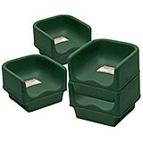 Green, Single Height Booster Seat, No Strap, 4/PK