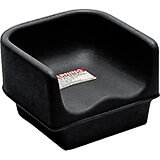 Black, Single Height Booster Seat, No Strap 1/PK