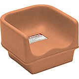 Coffee Beige, Single Height Booster Seat, No Strap 1/PK