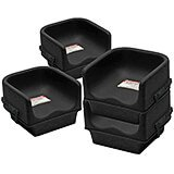 Black, Single Height Booster Seat with Strap, 4/PK