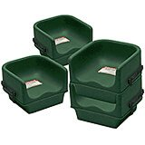 Green, Single Height Booster Seat with Strap, 4/PK