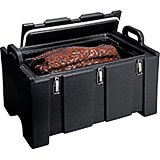 Black, Insulated Food Carrier for Bulk Storage, Stackable