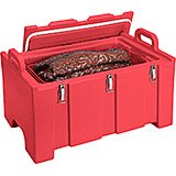 Hot Red, Insulated Food Carrier for Bulk Storage, Stackable