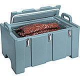 Slate Blue, Insulated Food Carrier for Bulk Storage, Stackable