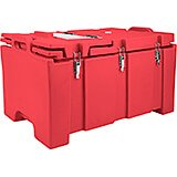 Hot Red, Insulated Food Carrier with Hinged Serving Lid
