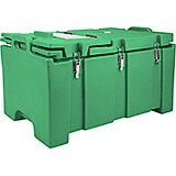 Green, Insulated Food Carrier with Hinged Serving Lid