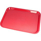 "Red, 10"" x 14"" Fast Food Trays, 24/PK"