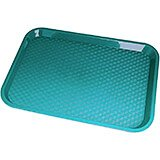 "Teal, 10"" x 14"" Fast Food Trays, 24/PK"