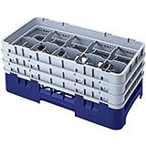 "Navy Blue, 10 Comp. Glass Rack, Half Size, 11.75"" H Max."