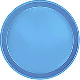 "Horizon Blue, 9"" Round Serving Tray, Fiberglass, 12/PK"