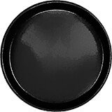 "Black, 9"" Round Serving Tray, Fiberglass, 12/PK"