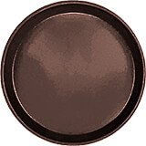 "Brazil Brown, 9"" Round Serving Tray, Fiberglass, 12/PK"