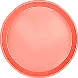 "Dark Peach, 10"" Round Serving Tray, Fiberglass, 12/PK"