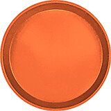 "Citrus Orange, 9"" Round Serving Tray, Fiberglass, 12/PK"
