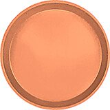 "Orange Pizazz, 12"" Round Serving Tray, Fiberglass, 12/PK"