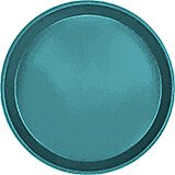 "Slate Blue, 12"" Round Serving Tray, Fiberglass, 12/PK"