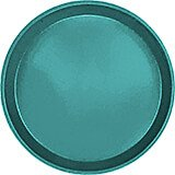 "Teal, 12"" Round Serving Tray, Fiberglass, 12/PK"