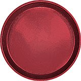 "Cherry Red, 12"" Round Serving Tray, Fiberglass, 12/PK"