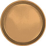 "Suede Brown, 9"" Round Serving Tray, Fiberglass, 12/PK"
