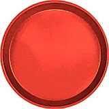 "Signal Red, 11"" Round Serving Tray, Fiberglass, 12/PK"