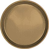 "Bay Leave Brown, 9"" Round Serving Tray, Fiberglass, 12/PK"