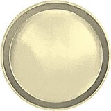 "Lemon Chiffon, 9"" Round Serving Tray, Fiberglass, 12/PK"