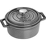 Graphite Grey, Round Cast Iron Cocotte, 0.5 Qt