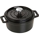 Black Matte, Round Cast Iron Cocotte, 0.5 Qt
