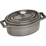 Graphite Grey, Oval Cast Iron Cocotte, 1 Qt