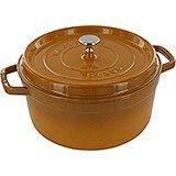 Saffron, Round Cast Iron Cocotte, 7 Qt