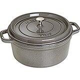 Graphite Grey, Round Cast Iron Cocotte, 9 Qt