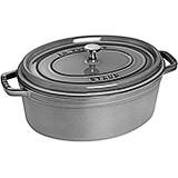Graphite Grey, Oval Cast Iron Cocotte, 7 Qt