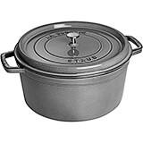 Graphite Grey, Round Cast Iron Cocotte, 13.25 Qt