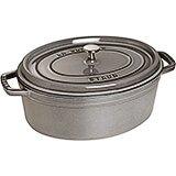 Graphite Grey, Oval Cast Iron Cocotte, 8.5 Qt