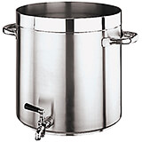 Stainless Steel Grand Gourmet #1100, Stock Pot with Faucet, 105.62 Qt