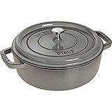 Graphite Grey, Round Dutch Oven, Cast Iron Cocotte, 6 Qt