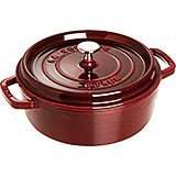 Grenadine, Round Dutch Oven, Cast Iron Cocotte, 4 Qt
