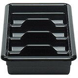 Black, Four Compartment ABS Cutlery Tray, 12/PK