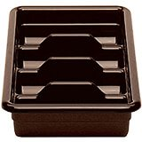 Dark Brown, Four Compartment ABS Cutlery Tray, 12/PK