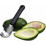 Black, Stainless Steel / Exoglass Avocado / Fruit Scoop