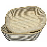 Willow Oval Banneton Proofing Basket, 7.87""