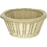 Wicker Lined Proofing / Bread Basket, Round, 9.5""